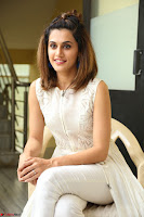 Taapsee Pannu in cream Sleeveless Kurti and Leggings at interview about Anando hma ~  Exclusive Celebrities Galleries 012.JPG