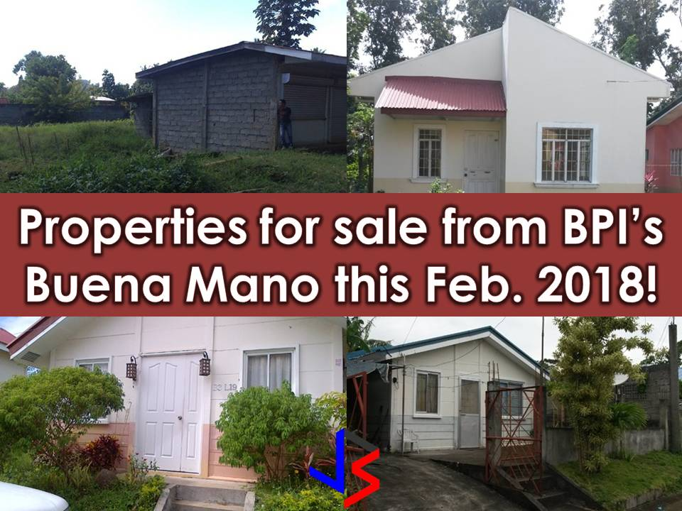 Looking for a real estate properties to purchase or for your investment? The following are properties for sale from BPI's Buena Mano. Many of these are bankruptcy house. All properties are below P1 million. You can find foreclosure homes in the list as well as affordable living homes for your family.  If you are interested, feel free to contact them with the following information;   Property Sales and Leases Ground Floor, BPI Buendia Center 360 Sen Gil Puyat Avenue Makati City, Philippines 1209  Customer Hotline: +63 (2) 580-3158 Faxline: +63 (2) 580-3126 Email: BUENAMANO@bpi.com.ph Website: www.buenamano.ph   Note: Jbsolis.com is not affiliated with Buena Mano and this post is not a sponsored. All information below is for general purpose only. If you are interested in any of these properties, contact directly with the bank's branches in your area or in contact info listed in this post. Any transaction you entered towards the bank or any of its broker is at your own risk and account.