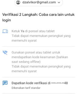 melewati verifikasi 2 langkah