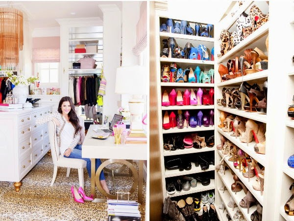 FASHION BLOGGER RACHEL PARCELL KHLOE KARDASHIAN SHOE CLOSET
