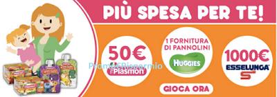 Logo Da Esselunga vinci buoni spesa da 50 euro, forniture e maxi buono da 1.000 euro