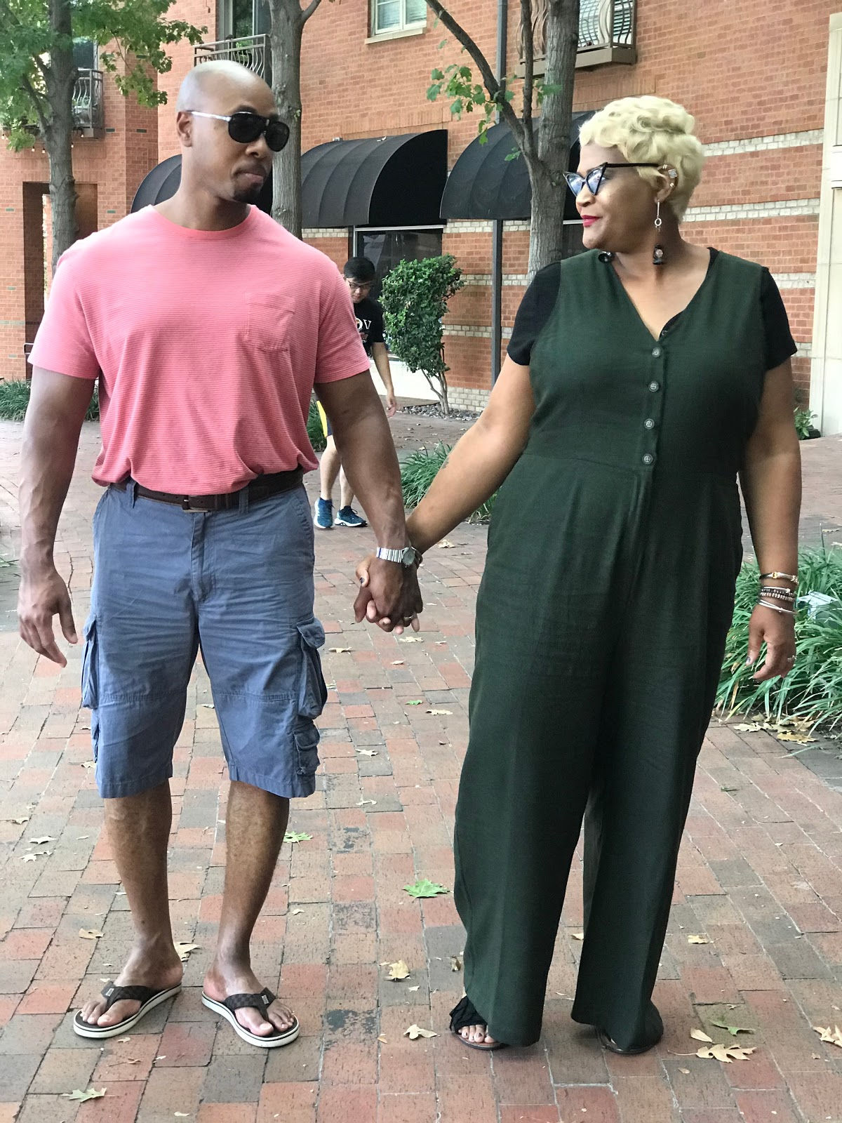 Tangie Bell and husband Richard bell walking in the park. Sharing The Weird Things No One Told Me About Being Forty-Something: My Crazy Tips!