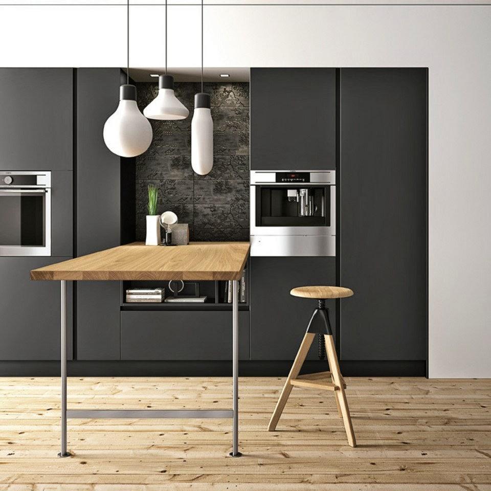30 modelos de mesas y barras para cocinas de todos los ...