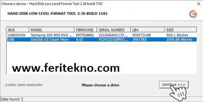 mengatasi flashdisk tidak terbada dengan hdd low format - feri tekno