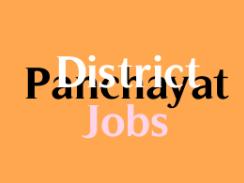 DISTRICT PANCHAYAT JOBS