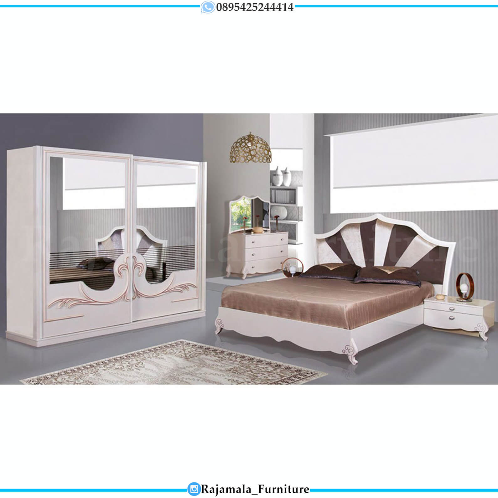 New Set Tempat Tidur Minimalis Luxury Concept Rajamala Furniture RM-0224