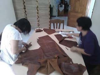kursus membuat tas ransel wanita kulit