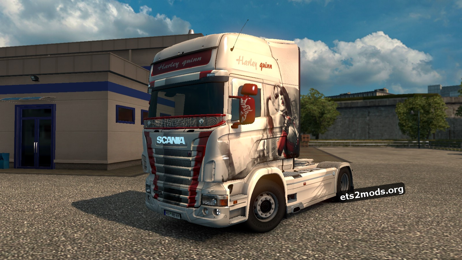 Harley Quinn Skin for Scania RJL