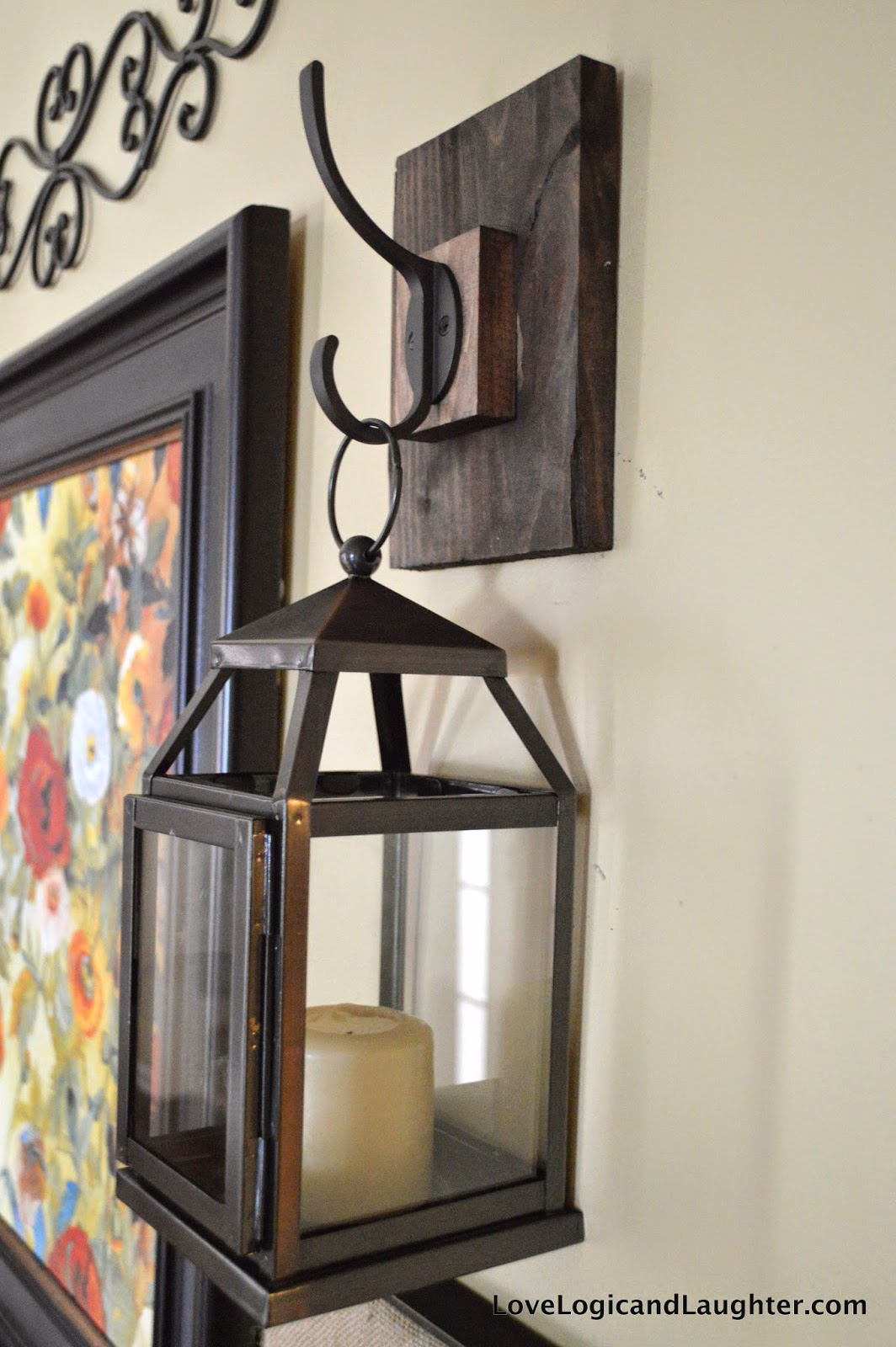 Logic and Laughter: Wall Lantern Hooks For My Entryway - DIY