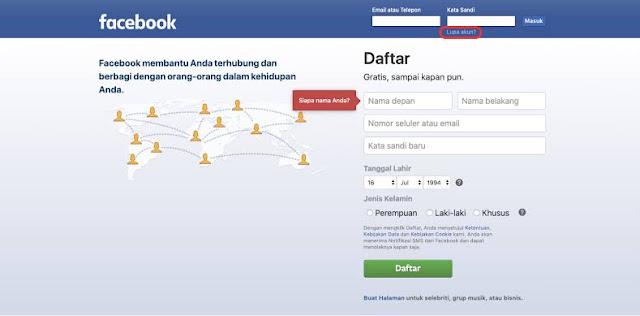 Cara Mengganti Email Facebook Jika Lupa Password