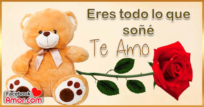 peluche con corazón y rosas te amo