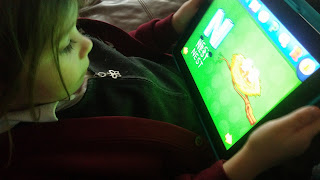 daughter playing kidoland app