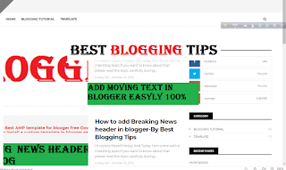 How to add moving text To Blogger or any website