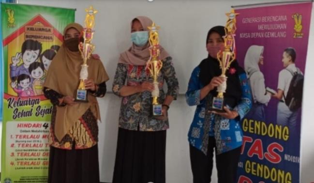 BKR Harapan Bunda Sabet Juara 1 Lomba KIE Daring Kader BKR se-Kapanewon Panggang
