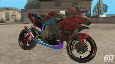 Download mod moto , Kawasaki Ninja H2r Custom para GTA San Andreas