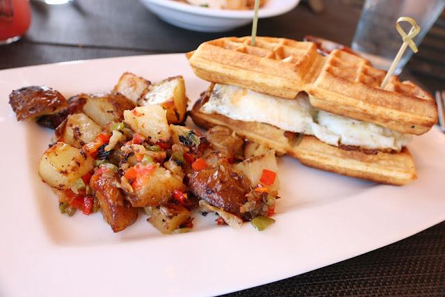 Tucker's Tavern - Belgian Waffle Sandwich