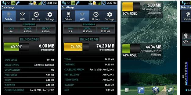 تطبيق data usage