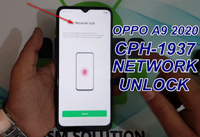 How To Oppo A9 2020 CPH-1937 Network-Country Unlock.