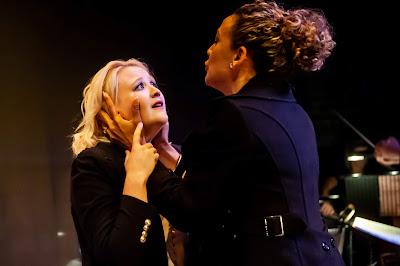 Wagner: Das Rheingold - Kiandra Howarth (Freia), Marianne Vidal (Fricka), Paul Carey Jones (Wotan) - Grimeborn Festival (Photo Lidia Crisafulli)