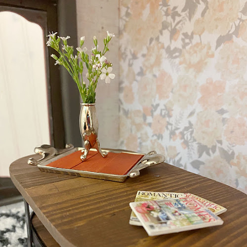 DIY Rustic Industrial Dollhouse Coffee Table