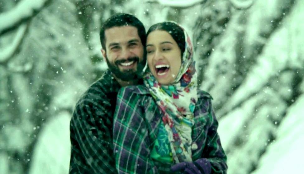 Shahid Kapoor and Shraddha Kapoor, based on Hamlet and Ophelia, in Haider, Directed by Vishal Bhardwaj