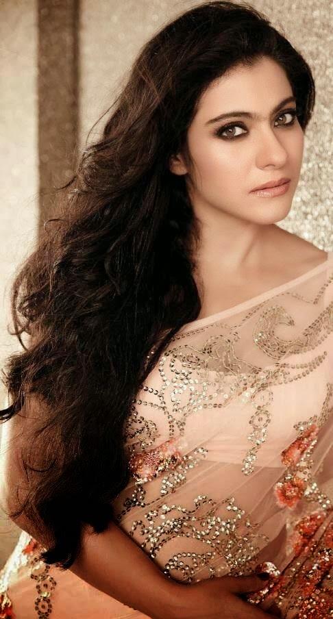 Kajol Mukherjee Hot Looking Photos In Pink Saree