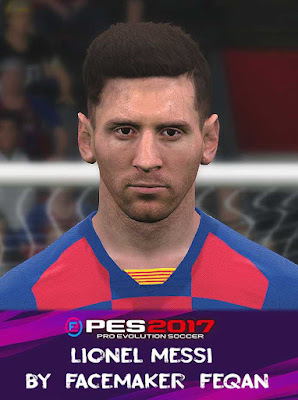 Lionel Messi Face Pes 2017 by Feqan