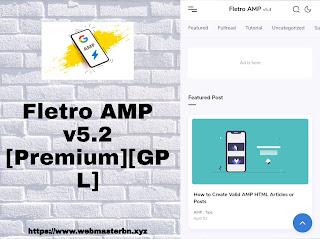 Fletro AMP v5.2 Responsive ব্লগার টেমপ্লেট
