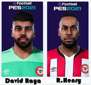 PES 2021 Faces David Raya & Rico Henry by Shaft