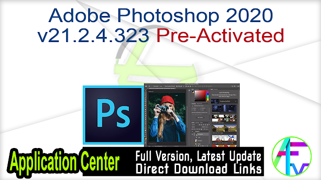 Adobe Photoshop 2020 v21.2.4.323 Pre-Activated