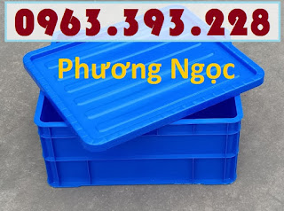 Sóng nhựa đặc B8, thùng nhựa đặc B8, hộp nhựa có nắp, thùng đựng linh kiện TDB8