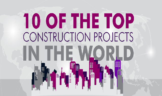 10 of the Top Construction Projects in the World #infographic