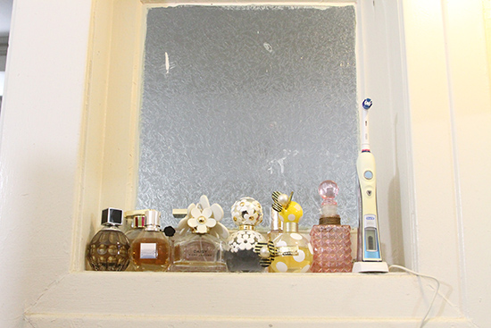Will Bake for Shoes | Perfume Collection in Bathroom