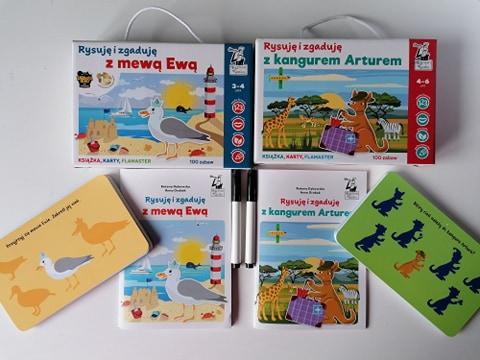 Rysuję i zgaduję... edukacyjne karty wielokrotnego użytku