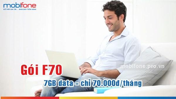 Đăng ký gói F70 Mobifone cho sim Fast Connect