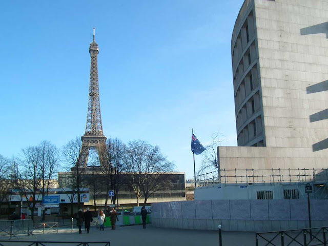 Australian Embassy in Paris and Eiffel Tower. France. Photographed by Susan Walter. Tour the Loire Valley with a classic car and a private guide.