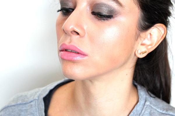 full makeup & pjs