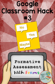 While time-consuming, Google Forms present the perfect way to formatively assess your students. Create an assessment with a variety of question types, and you're good to go! Keep in mind that this does take extra prep, so it may not be something that you want to use frequently, but it's a great tool to throw in occasionally!