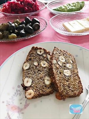 glutensiz ekmek, tohum ekmek, çekirdekli ekmek, fındıklı ekmek