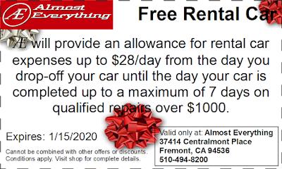 Coupon Free Rental Car December 2019