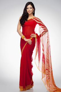 Pure-indian-chiffon-sarees-with-blouse-for-summer-for-girls-3
