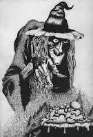 ragana, witch, latvian folklore, latvian mythology, latviešu folklora, latviešu mitoloģija, capital r, 2018, drawing