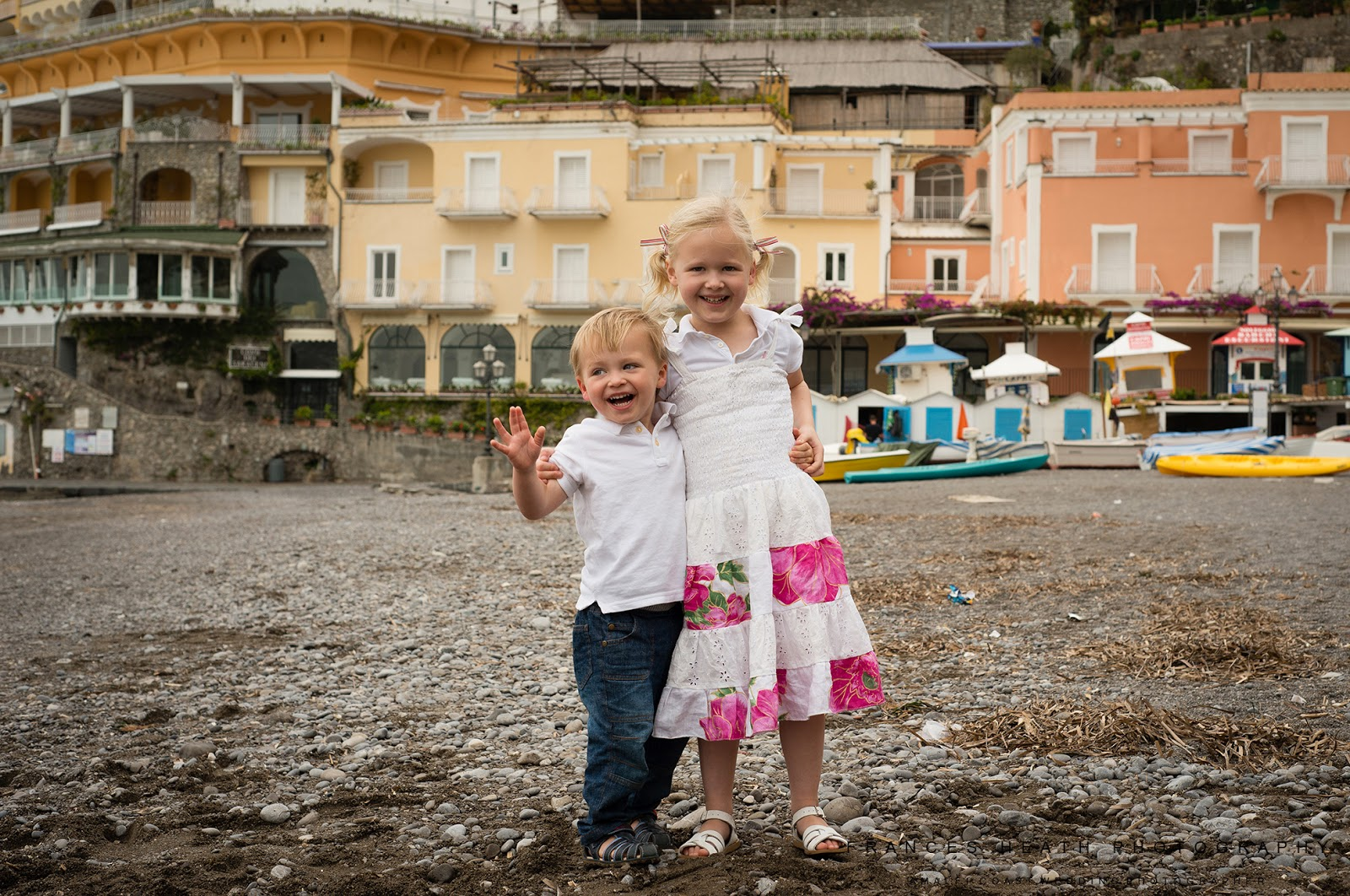 Children's portrait in Positano