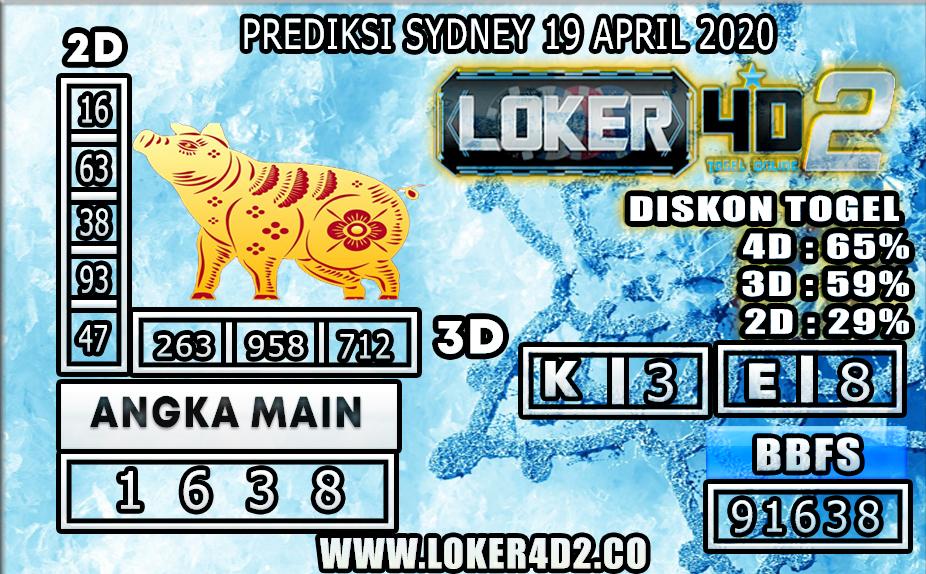 PREDIKSI TOGEL SYDNEY LOKER4D2 19 APRIL 2020