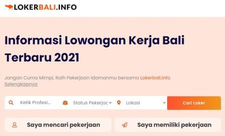 Situs Lowongan kerja Bali