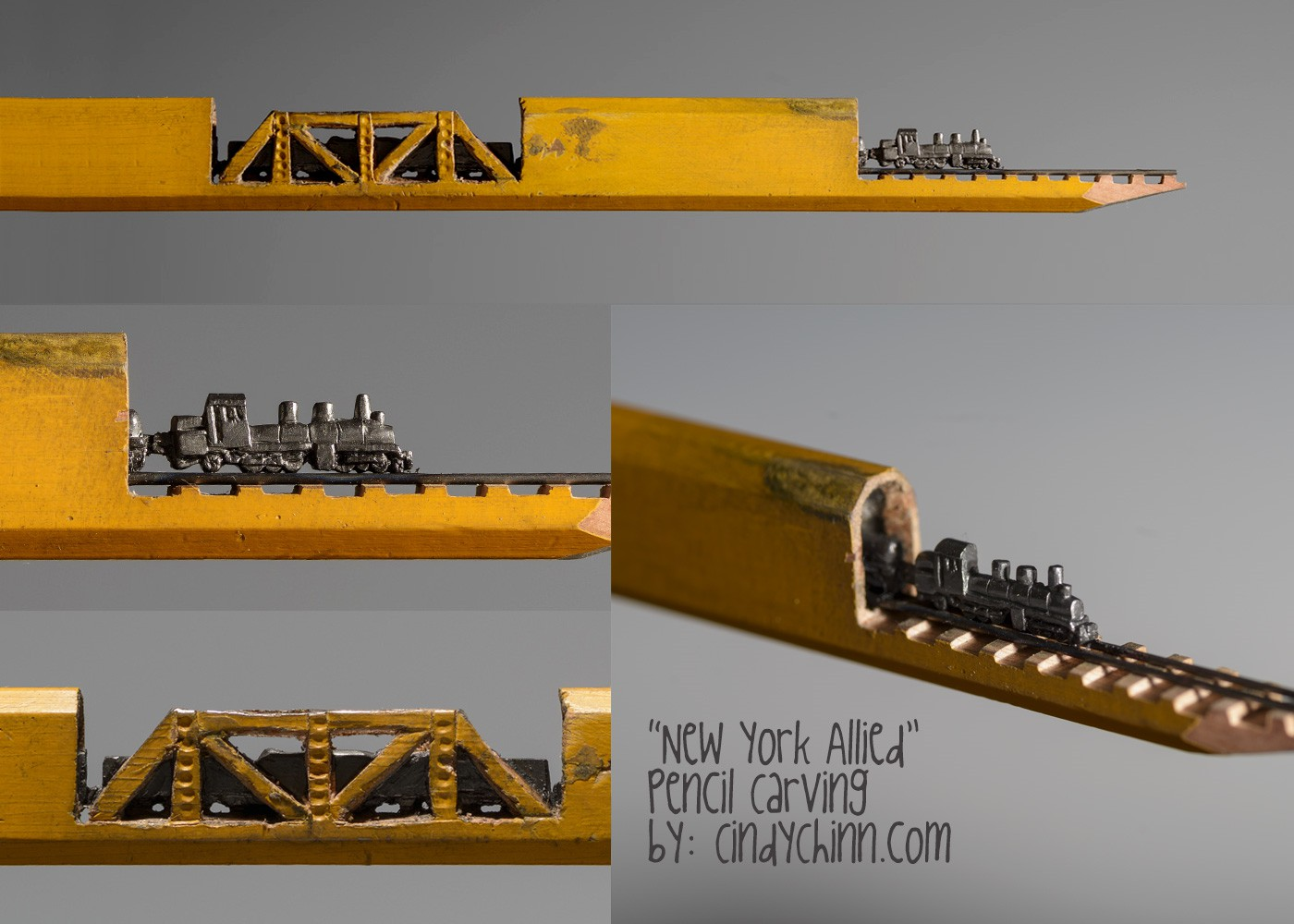 13-New-York-Allied-Train-Cindy-Chinn-Miniature-Carvings-of-Pencil-Graphite-www-designstack-co