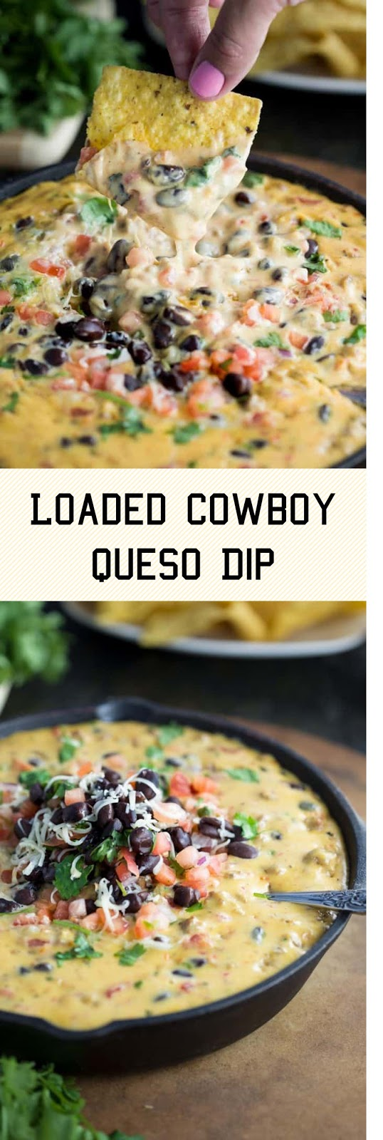 Loaded Cowboy Queso Dip