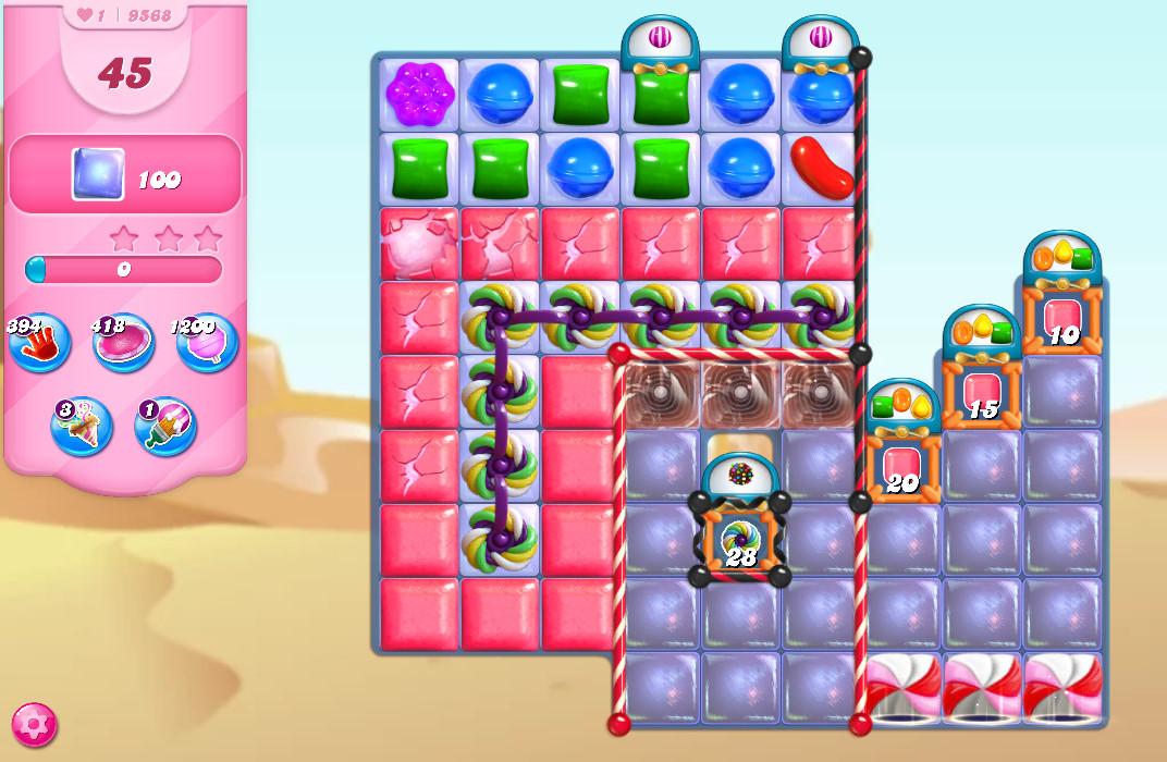 Candy Crush Saga level 9568