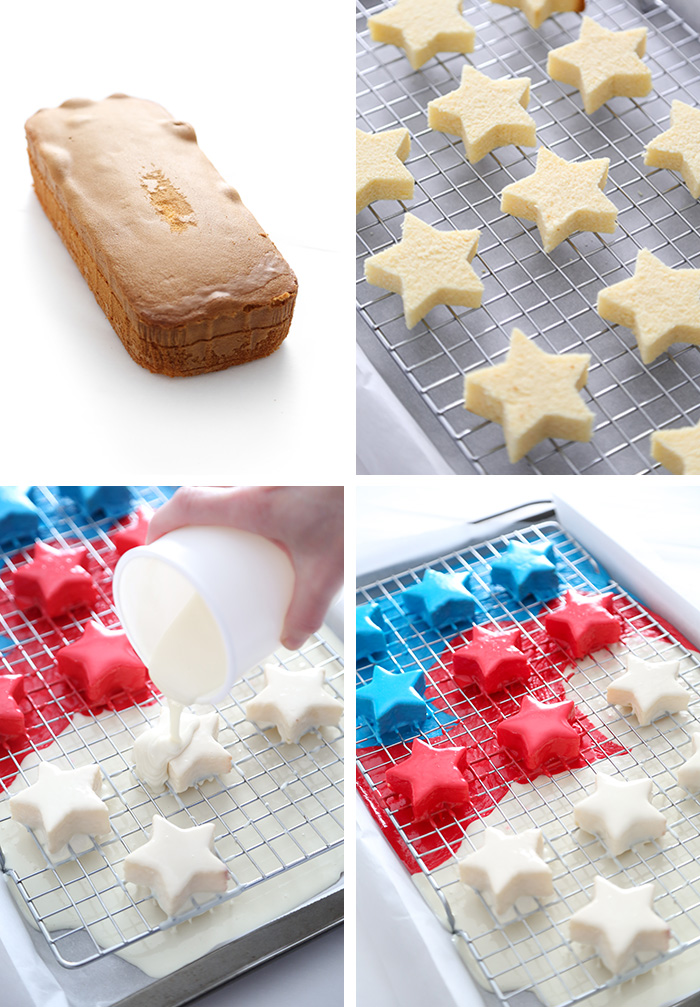Easy Patriotic Petit Fours