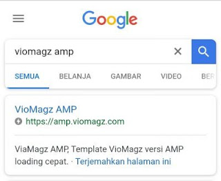 contoh template AMP
